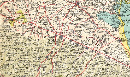 Bologna On Map Of Italy.Army Issue Maps Of The Italian Campaign